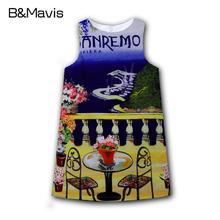 Hot Summer Dresses For Girls Sleeveless Floral Girls Clothes 2016 Brand Girl Dress Fashion Children Clothing Princess Costume