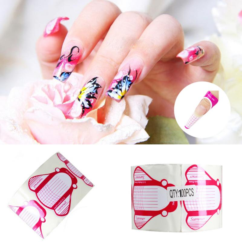 Best Rose Insert Shaped Nail Form New Nail Art Tips Extension Forms ...