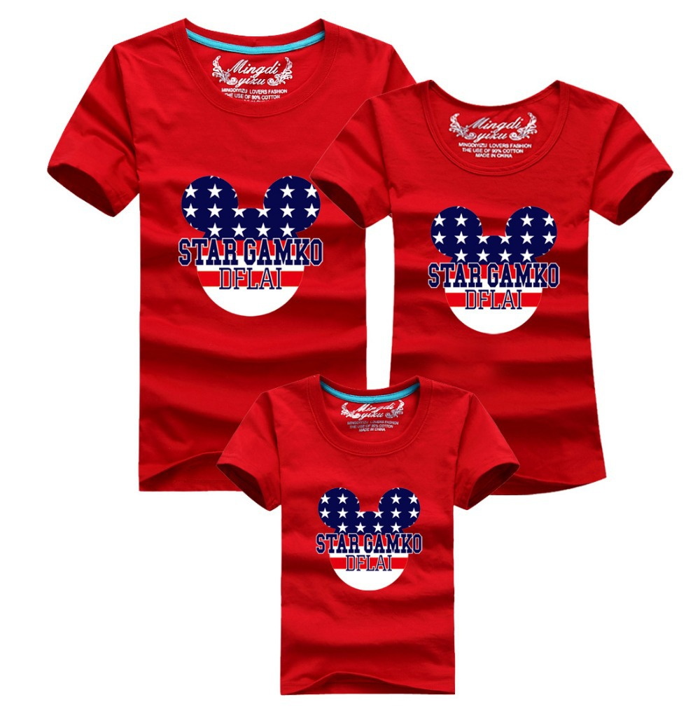 1 piece 2015 family shirts cotton superman t shirts family T shirts for dad