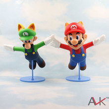 Free shipping 23cm japanese anime super mario toys Garage Kits PVC Figure game anime