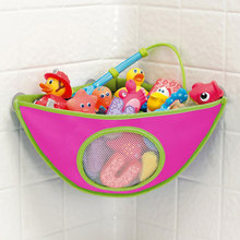 Bath Toys Organizer Storage Bin Baby Bathroom Bag Baby Kids Bath Tub Waterproof Toy Hanging Storage Bag Rose Color(China (Mainland))