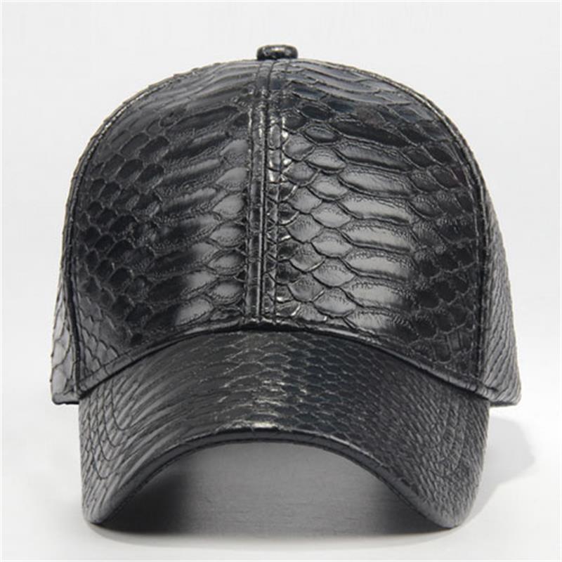 12pcs/lot Novelty Mens Snakeskin Faux Leather Baseball Caps for Spring Autumn Winter Men Black Baseball Hats Bulk Wholesale Hat(China (Mainland))