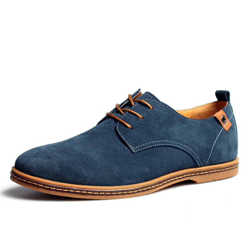 men shoes 2016 new suede genuine leather mens casual shoes fashion casual oxford shoes for men flats shoes 2016 new spring ET01<br><br>Aliexpress