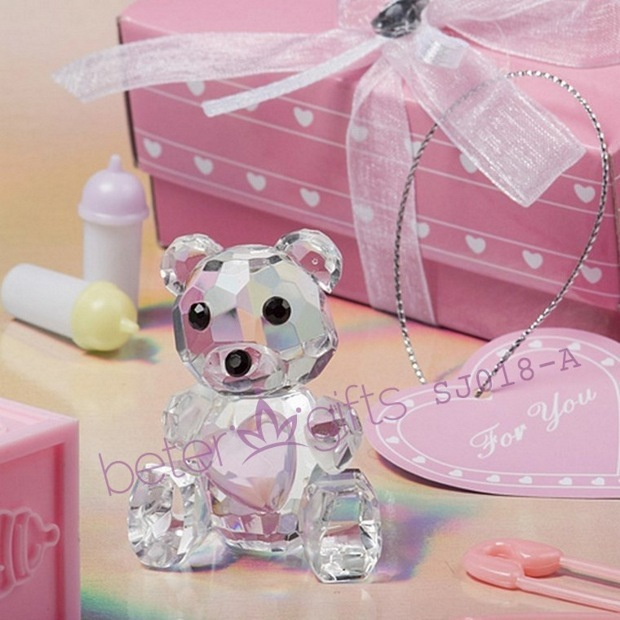 36box Crystal Collection pink Teddy Bear Figurines SJ018/A Wedding Favor, Wedding Gift, Wedding Souvenir