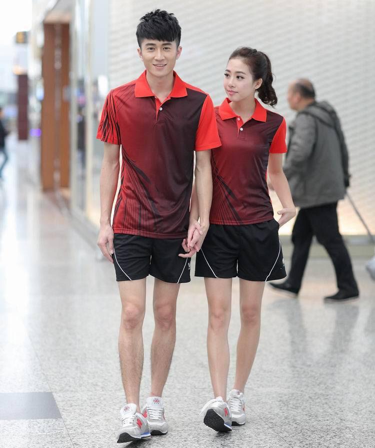 fashion Butter-fly table tennis Jerseys sportswear men women sportswear shirt Couple butter-fly table tennis Jerseys polo L116(China (Mainland))