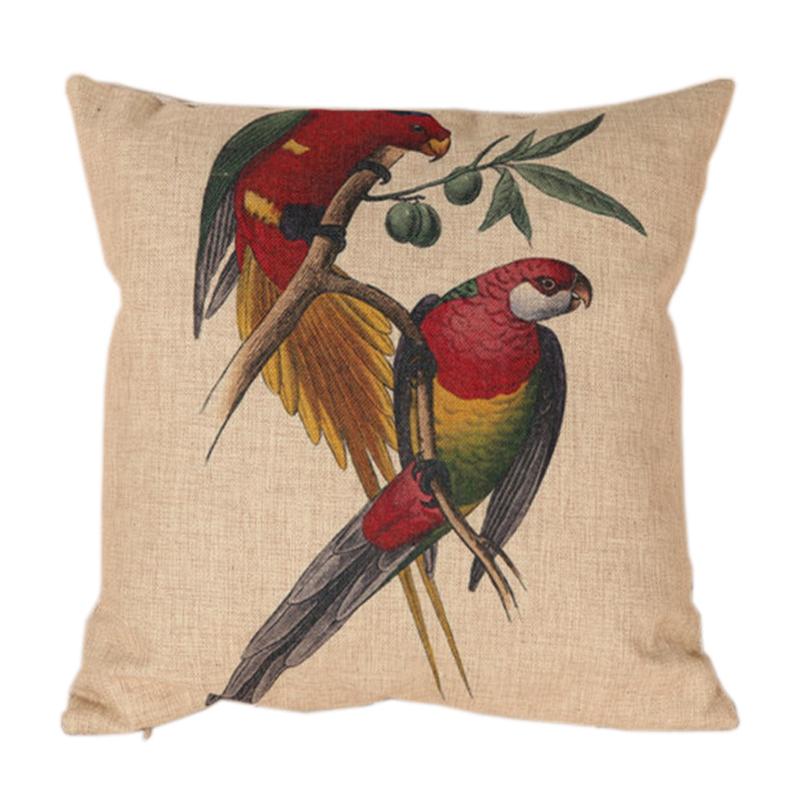 Parrots Linen Sofa Cushion Cover 45*45cm Home Decoration(China (Mainland))