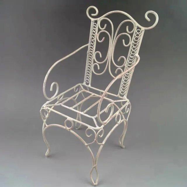 BJD White Steel Chair Furniture For 1/3 1/4 BJD AOD AS SD DD Dollfie G&amp;D<br><br>Aliexpress