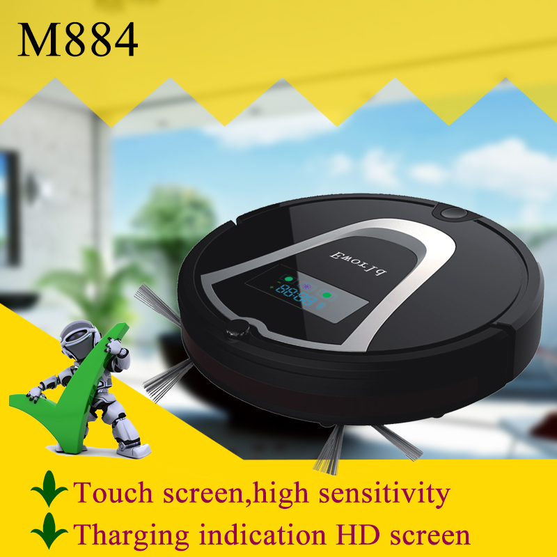 (Free to Europe)Eworld M884 Robotic vacuum cleaner with LCD screen and UV light,Ebay Best Selling(China (Mainland))