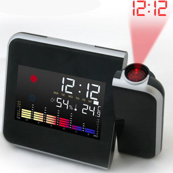 Многофункциональный светодиодный красочные проекция голос ежедневно часы звук будильник ночник будильник ночник(china