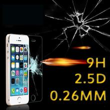 HD Clear 9H 2.5D Ultra-thin 0.26MM Tempered Glass Film For iPhone 4 4S 5 5S SE 6 7 6S Plus Screen Protector Protective Film