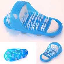 Shower Feet Cleaner Scrubber Bath Brush Massager Bristles Easy Health Slipper 6259 FOdsD