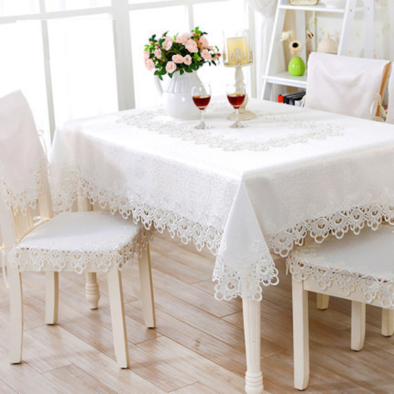 40 - 180cm x 60 x 220cm Lace Tablecloth TV Table Cloth Cover Runner White Beige Dia.120 150 180 40 x 180 220 130 x 180 150 x 210(China (Mainland))