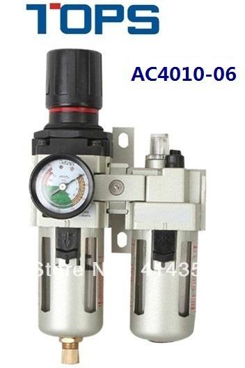 "AC4010-06 SMC type G3/4"" port size air filter regulator lubricator three unit combination(China (Mainland))"