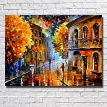 Buy Wall Art Home Decoration Hand Painted Colorful Scenery Oil Painting Canvas Living Room Decor Wall Picture Framed Art for $13.79 in AliExpress store