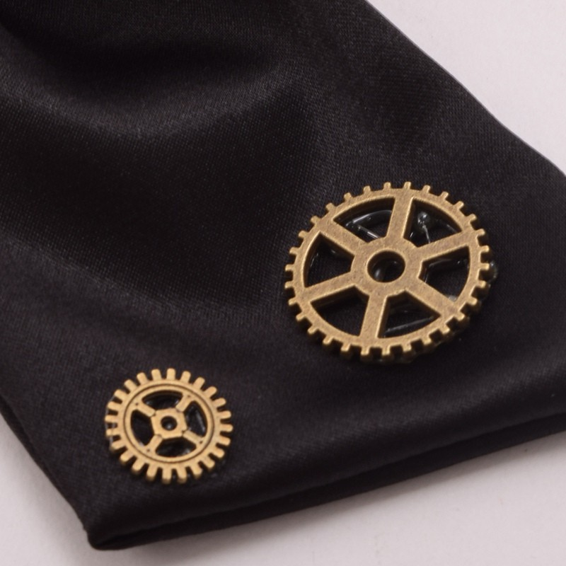 1pc Steampunk Bow Neck tie Industrial Victorian