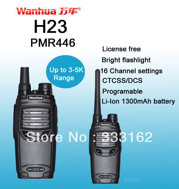 H23 ham radio/the radio/transceiver/walkie talkie, compact design,16CH, Bright Flashlight,TOT/Scan/Monitor,