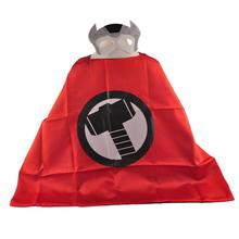 Mask+cape superman spiderman kids superhero capes batman superhero costume suits for boys girls for party(China (Mainland))