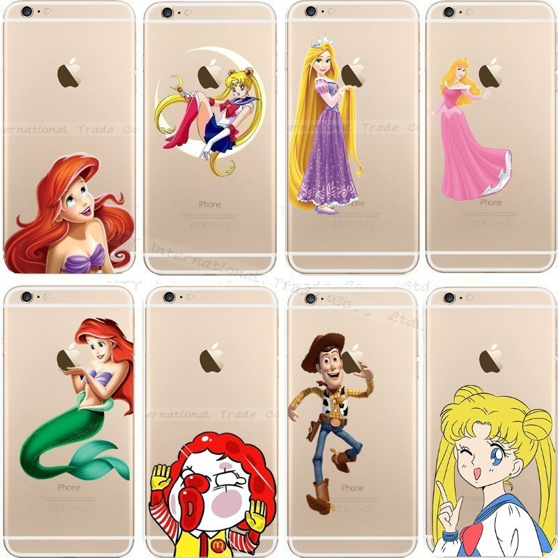 6/6S Cases For Apple iPhone 6 6S Case Shell Snow White Anna Mermaid Ariel Cinderella Cover Pretty Girl Top Popular Fashion Hot!!(China (Mainland))