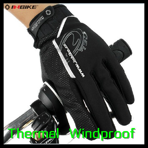 Winter Sports Bike Cycling Warm Windproof Gloves + Breathable Bicycle Long Finger - Cherry World store