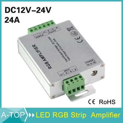 1Pcs New Design DC12-24V 12A RGB Led Amplifier Led Signal Amplifier for Led Strip 5630 5050 3528 3014 With CE ROSH(China (Mainland))