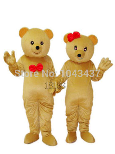 2014 Christmas halloween Teddy Bear Adult Mascot Costume Fancy Outfit Cartoon Character Party Dress Free Shipping(China (Mainland))