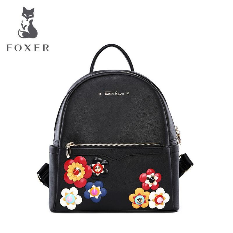 Famous brand of highquality dermis women bag 2016 new stereoscopic flowers shoulder bag Simple College Wind backpack(China (Mainland))
