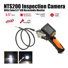 Eyoyo NTS200 Endoscope Inspection Camera 3.5 Inch LCD Monitor 8.2mm Diameter 1 Meters Tube DVR Borescope Zoom Rotate Flip(China (Mainland))