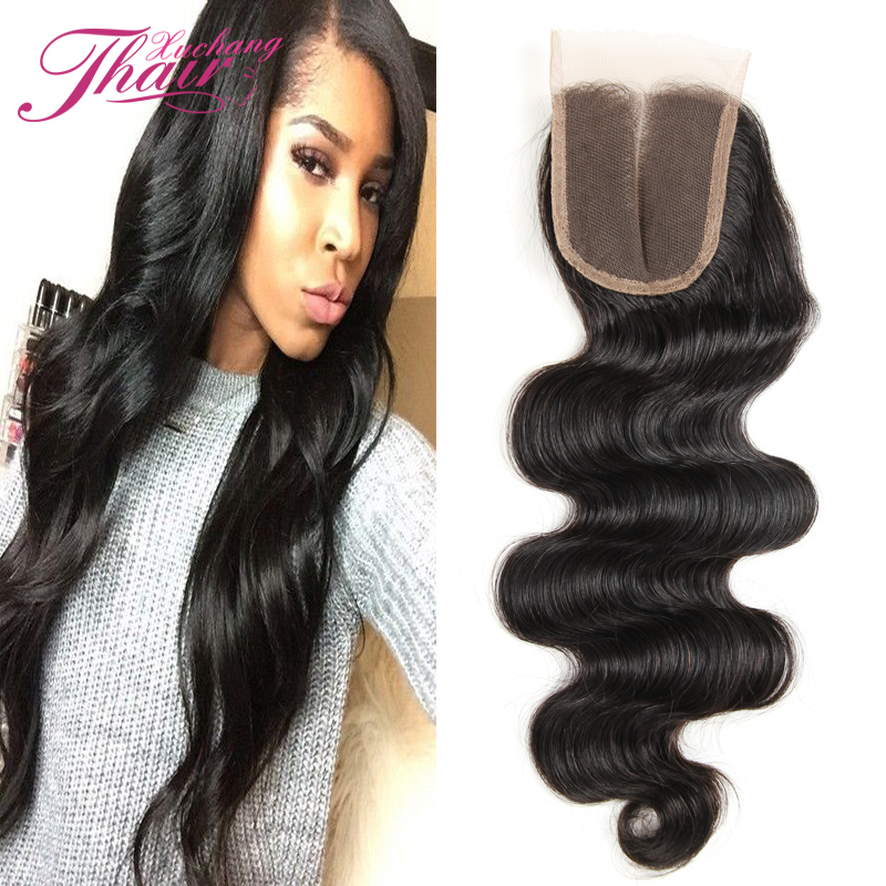 Silk Base Closure Brazilian Lace Closure Bleached Knots Virgin Hair 4*4inch Body Weave Style Natural Color Free Shipping By DHL<br><br>Aliexpress