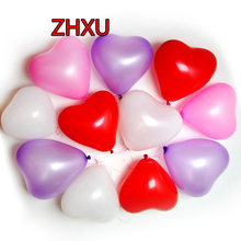 Free shipping 10pcs10 inch heart latex balloon air balls inflatable balloons wedding birthday party decoration floating toys