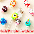 FFFAS Cute Cartoon Cable Protector de cabo USB Cable Winder Cover Case For IPhone 5 5s