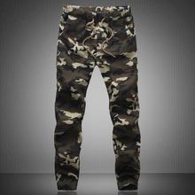 2015 New Spring Fashion Brand Men Pants Men Military Camouflage Pencil Pants Joggers Sweatpants Army Sport Pants Trousers 5XL