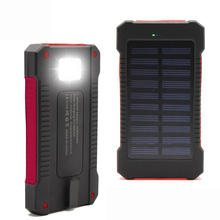 New Portable Waterproof Solar Power Bank 10000mah Dual-USB Solar Battery Charger for All Phone(China (Mainland))