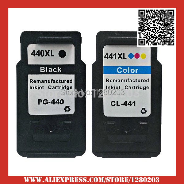2 Piece 1 Set Remanufactured Ink Cartridge for Canon PG 440 CL 441 for Canon MX394 MX434 MX454 MX524 MG2240 MG3540 MG4240<br><br>Aliexpress