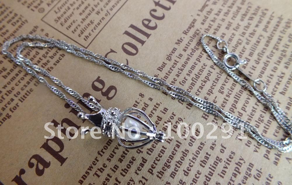 ! 20pcs/lot mixed designs wish pearl necklace pendant cage necklace charm design beautiful pendant///Free ship(China (Mainland))