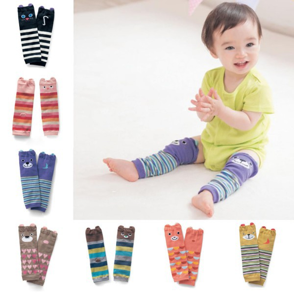 Infant Cute Baby Toddler Girls Boys Warm Leg Warmers Legging Striped Socks Cartoon Freeshipping