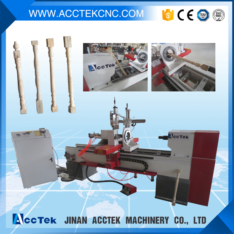 easy operation automatic wood lathe for pull trench stair baluster(China (Mainland))