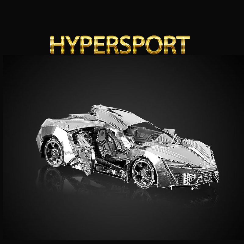 Original HK NANYUAN HYPERSPORT 3D CAR Belem Tower Puzzle Metal assembling model Oxidation resistance of stainless steel gift(China (Mainland))