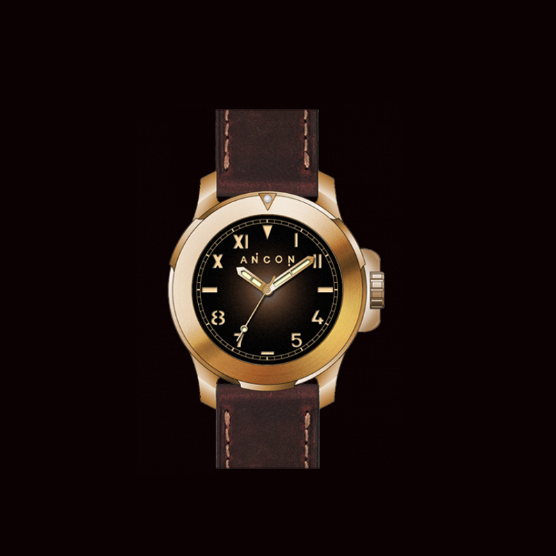 New Arrival ANCON CHALLENGER 47mm CH005 Diving Watch Bronze Case with Italian Genuine Leather Strap Free Shipping<br><br>Aliexpress