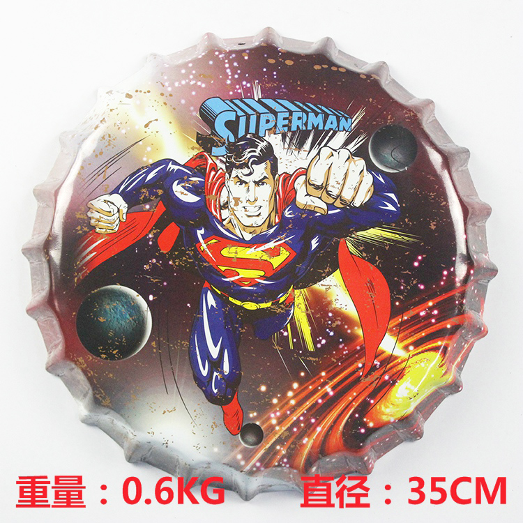 35cm Cartoon Round Saloon Painting Vintage Home Decor Retro Metal Art Poster Beer Signs(China (Mainland))