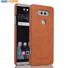 """Buy Case LG V20, KEZiHOME Frosted Genuine Leather Hard Back Cover LG V20 5.7"""" Phone Protector case for $8.91 in AliExpress store"""
