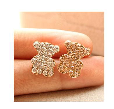 2013 069 Accessories Corsage Czech Diamond Bear Smiley Small Brooch Female Heart Pin A069 - China's export trade store