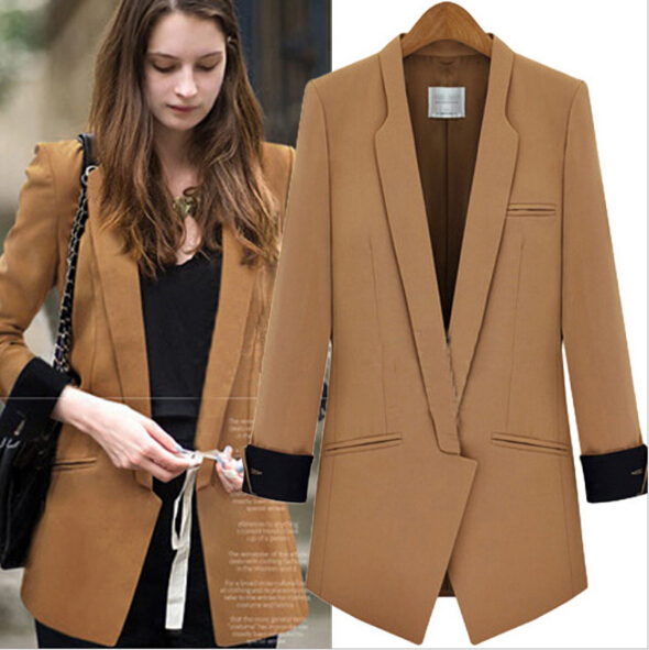 2015 Spring Women Slim Long-Sleeve Casual Suit Solid Color - Fashion E-Mall store