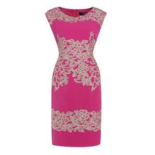 2016 Spring   Women Flower Appliques Dress Elegant O-Neck Mini Dress