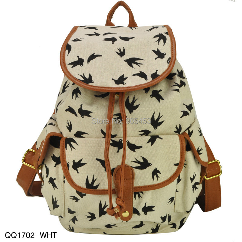 2014 New Arrival Animal Print 3 Colors Charming Backpack For Girl School Rucksack Shoulder Bags Promotion Free Shipping QQ1702(China (Mainland))