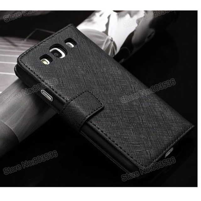 Galaxy S3 Case Wallet Style with Card Holder,Cow Leather with Bill Site Cover For Samsung S3 Case i9300 Airmail Free Shipping