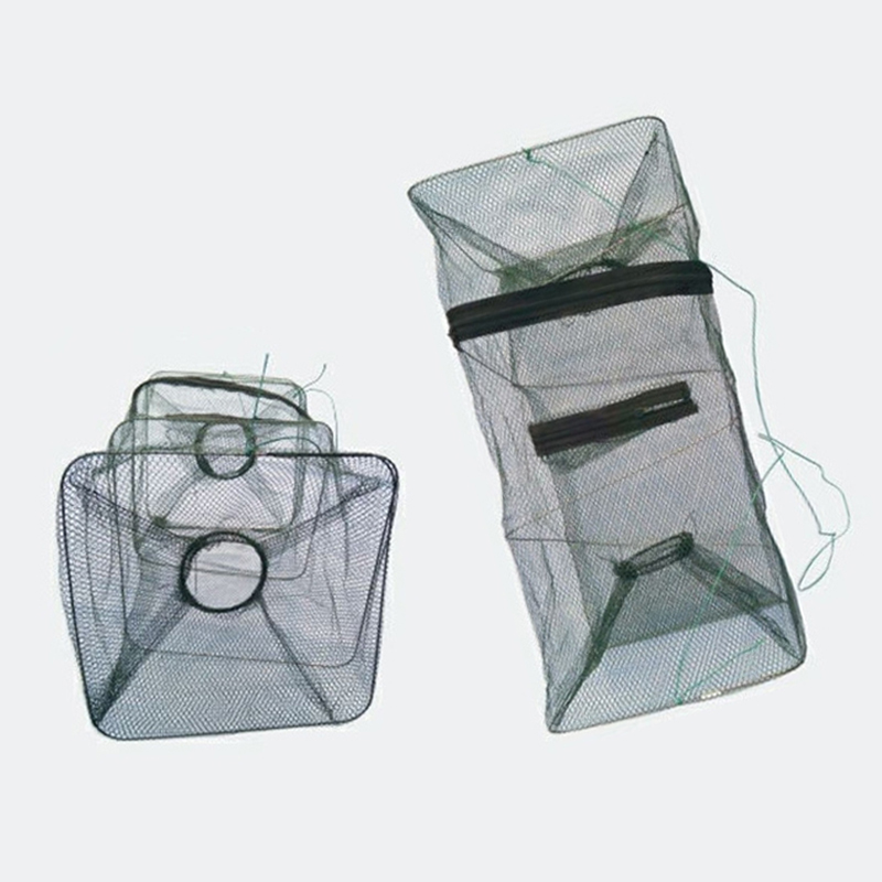 Fishing Collapsible Trap Cast Keep Net Cage Crab fish Shrimp Lobster Crawfish Fishing Net(China (Mainland))