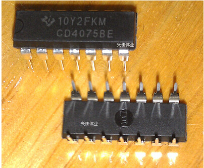The new CD4075 CD4075BE DIP14 gate and the inverter integrated circuit package--XJDZ(China (Mainland))