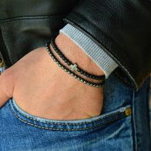 2019 nowa modna męska bransoletka zestawy Trendy Handmade klasyczna Strand kamień bransoletka z paciorkami dla mężczyzn biżuteria prezent Pulsera Hombre(China)