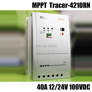 Tracer-4210RN MPPT 40A 100V solar charge controller for solar home system, outdoor lighting, signals, RVs and boats