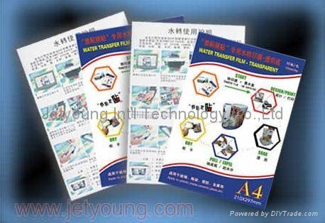 JETYOUNG Decal Paper Water Transfer Paper for General Printing Ink -Transparent (Water Slide Paper) 10sets/bag